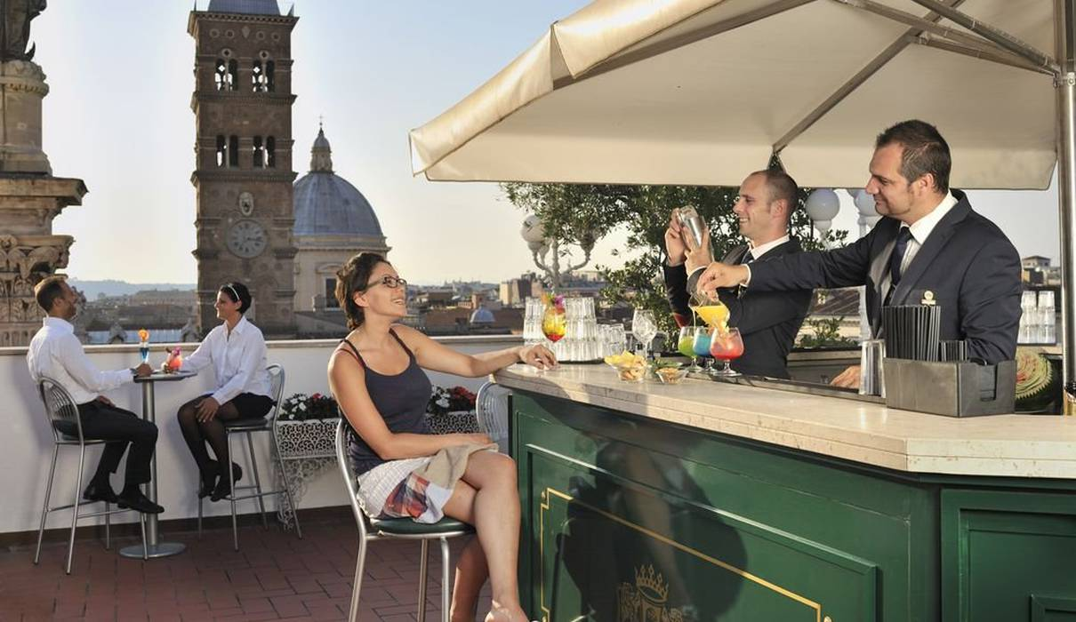Sky bar Hotel Mecenate Palace Roma